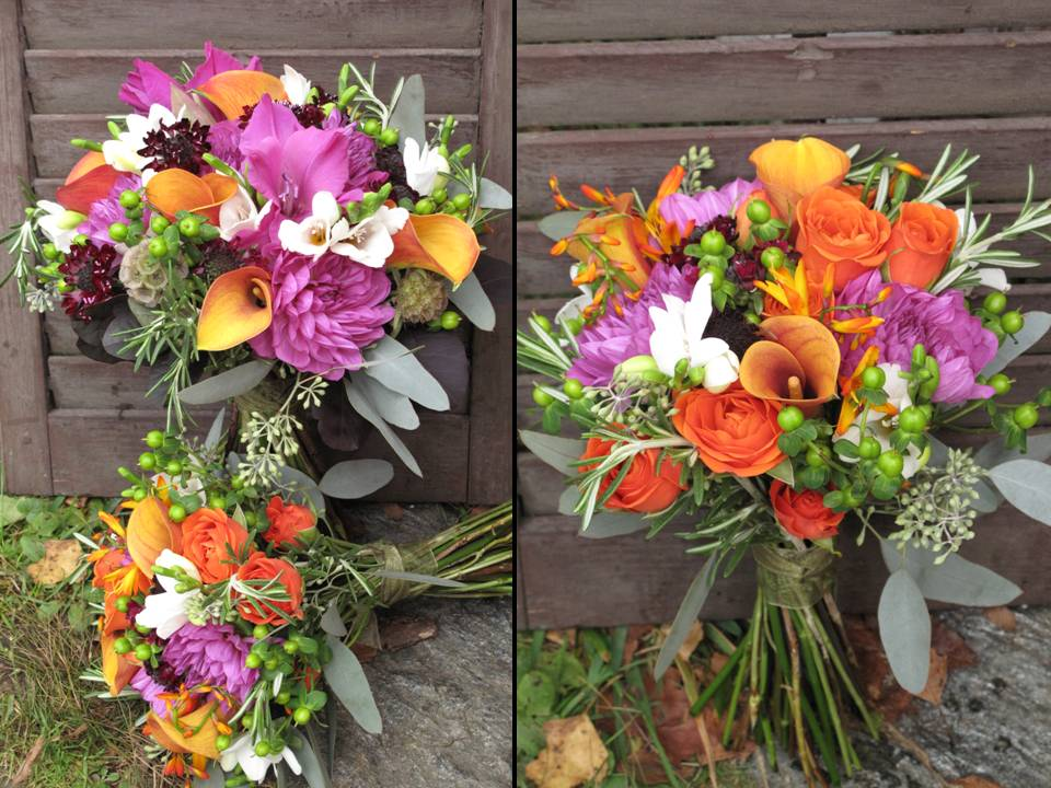 Vermont wedding flowers for fall