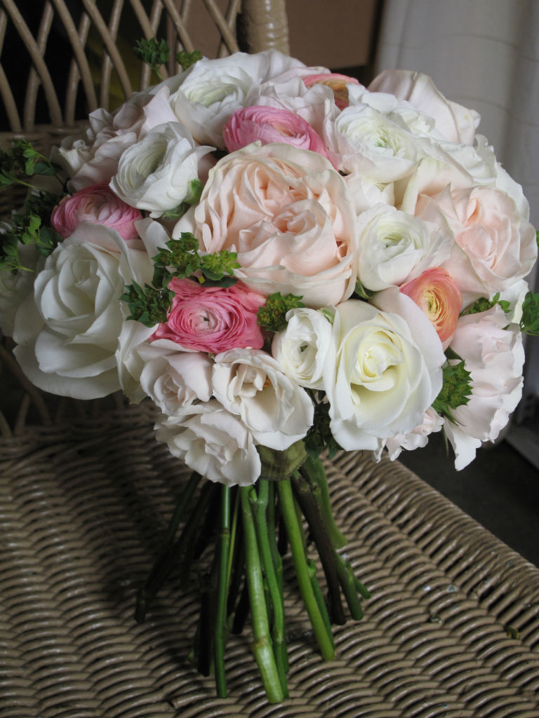 Wedding flowers, Bridal bouquet, pale pink flowers