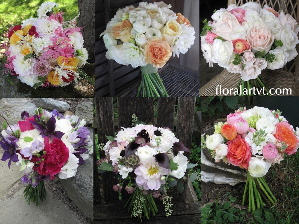 Wedding bouquets, Floral Artistry, Alison Ellis, Vermont Flowers