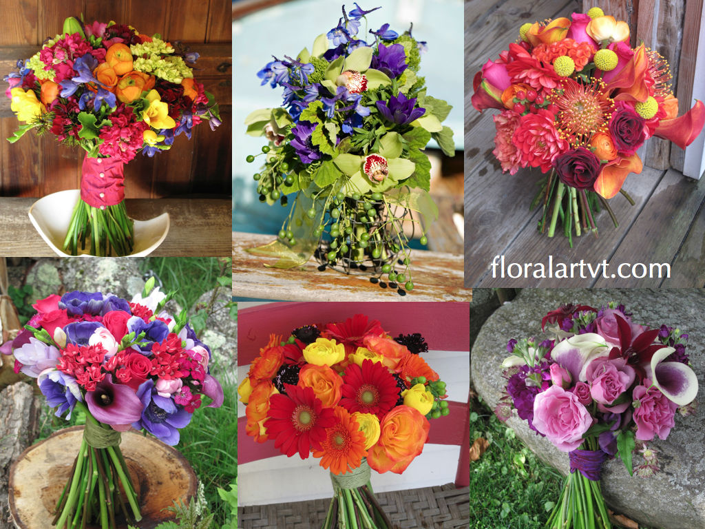 Bridal bouquets, Floral Artistry, Wedding Flowers in Vermont