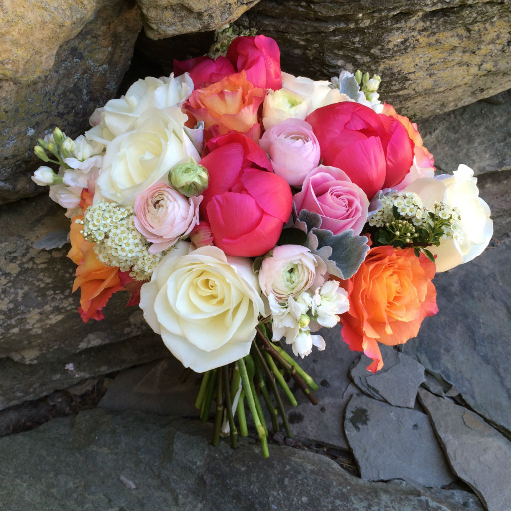 peony bouquet for Vermont Wedding, Vermont Wedding Flowers, Floral Artistry