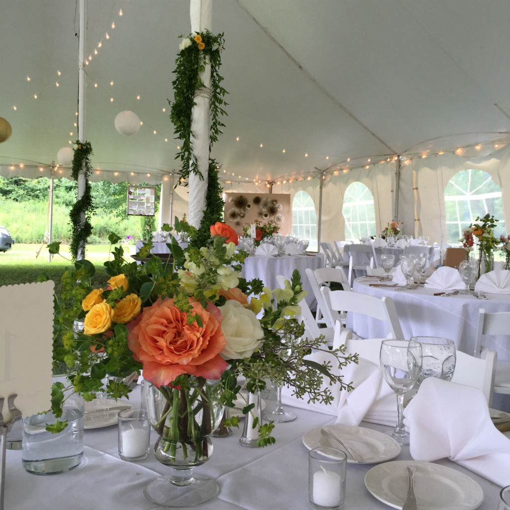 vermont wedding vermont wedding flowers wedding tent centerpieces