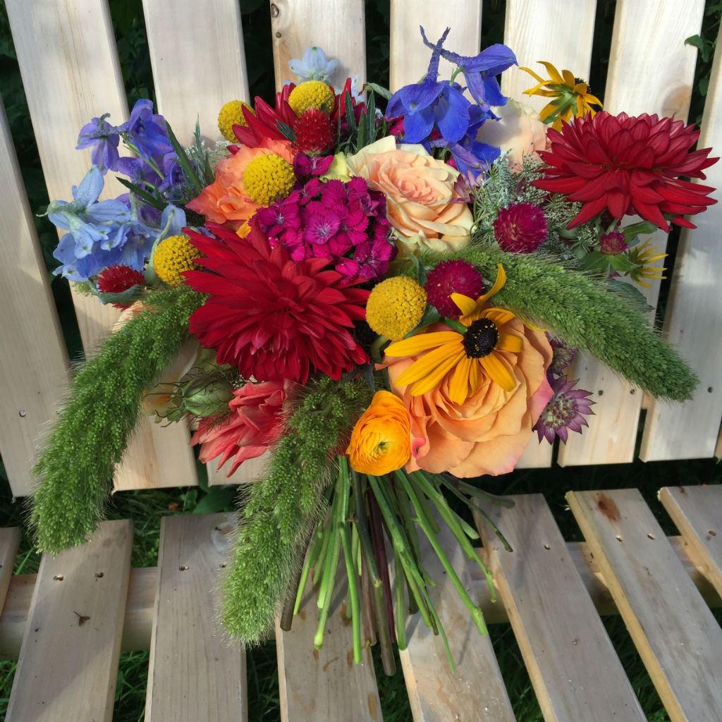 summer wedding flowers in stowe vt