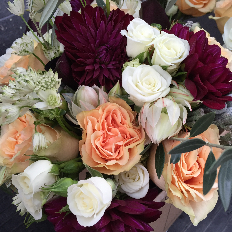 Wedding Flowers 12 Lovely Burgundy Peach And White