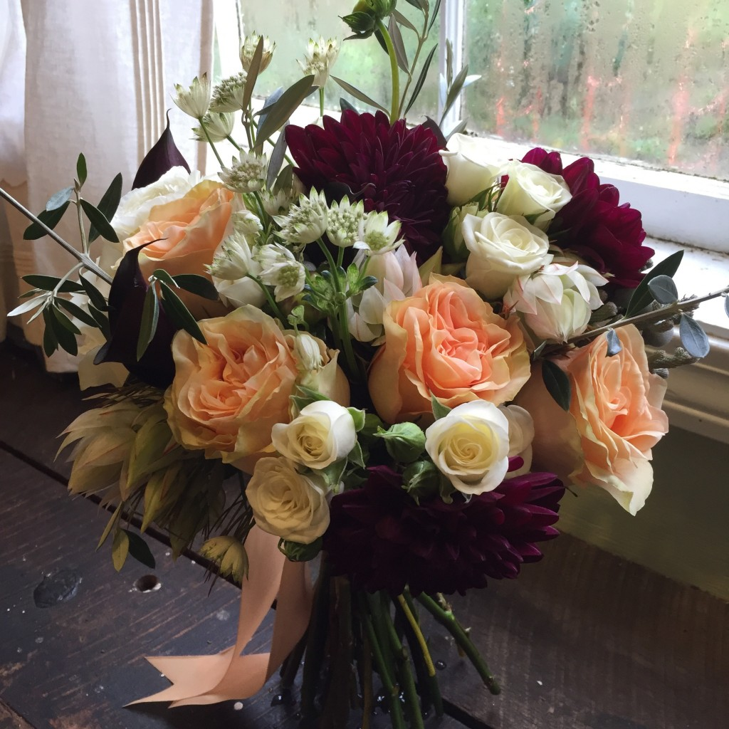 Burgundy Peach And White Wedding Flowers Floral Artistry