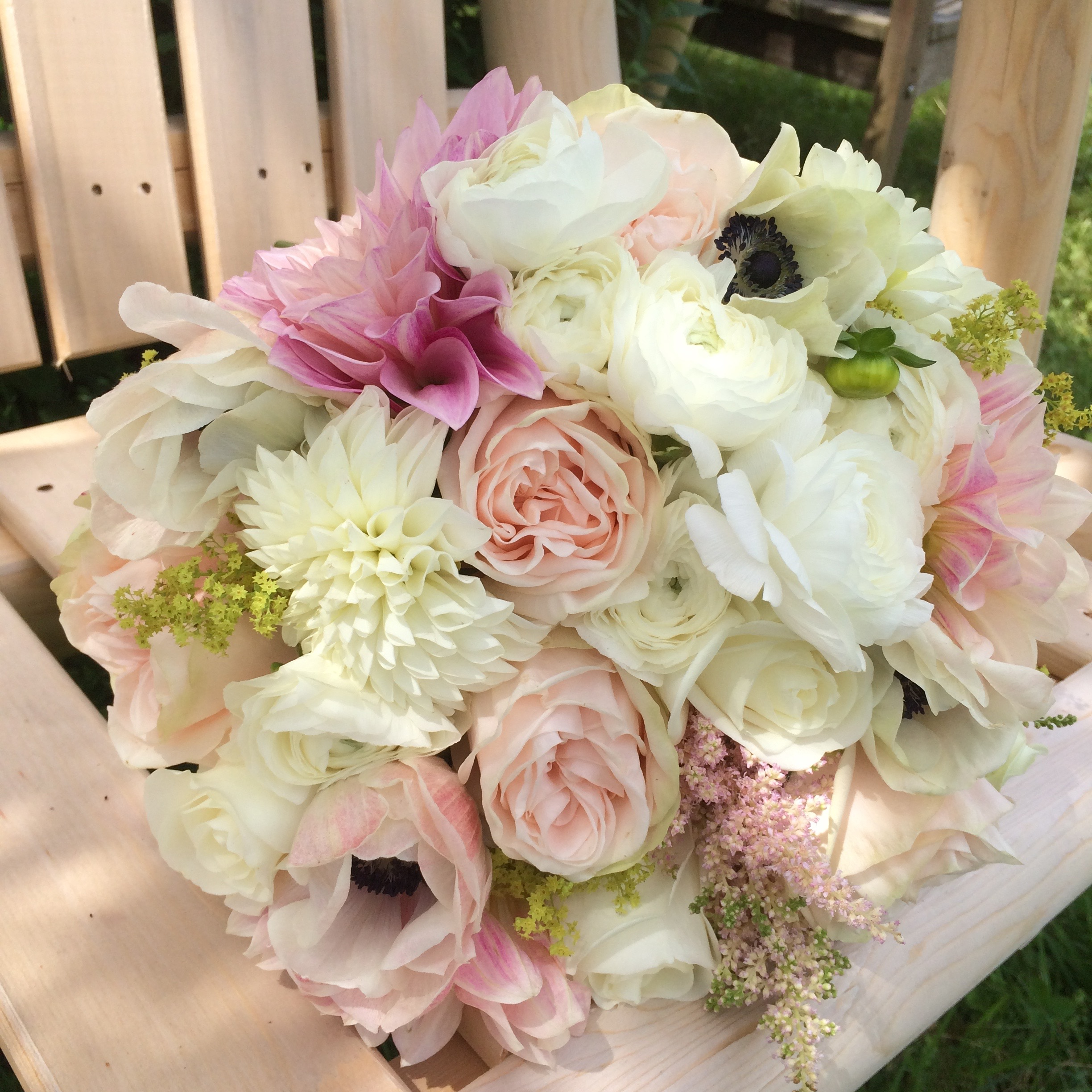 Blush pink and white wedding flowers, Vermont Wedding Flowers, Floral Artistry