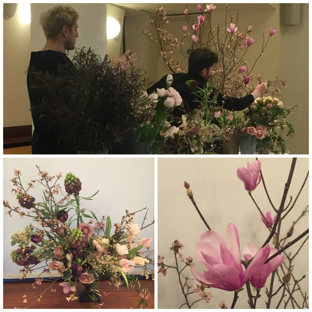 Putnam Flowers teaching in NYC at Chapel Designer Conference