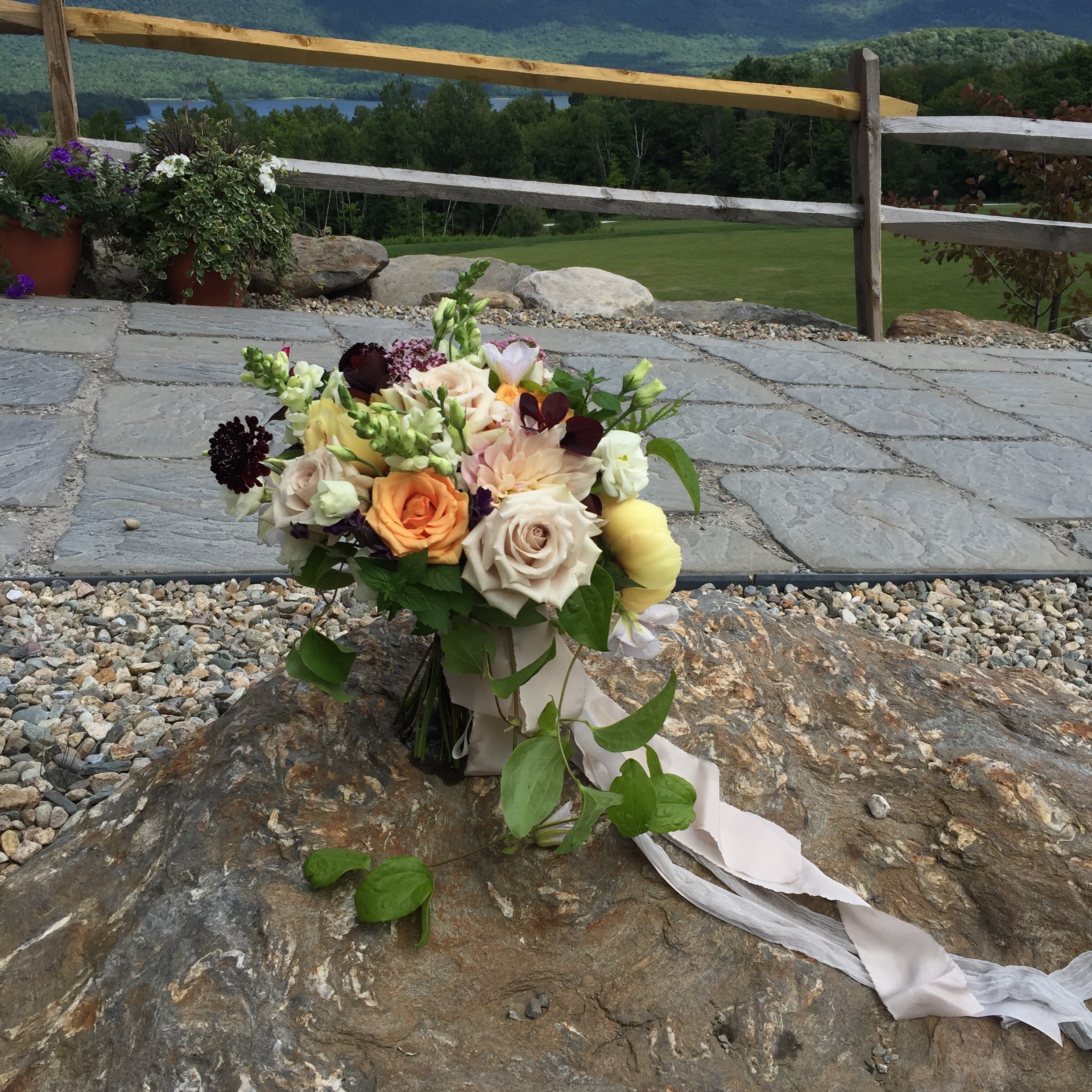 Bridal bouquet, Wedding flowers in Vermont, Floral Artistry, Vermont wedding flowers by Alison