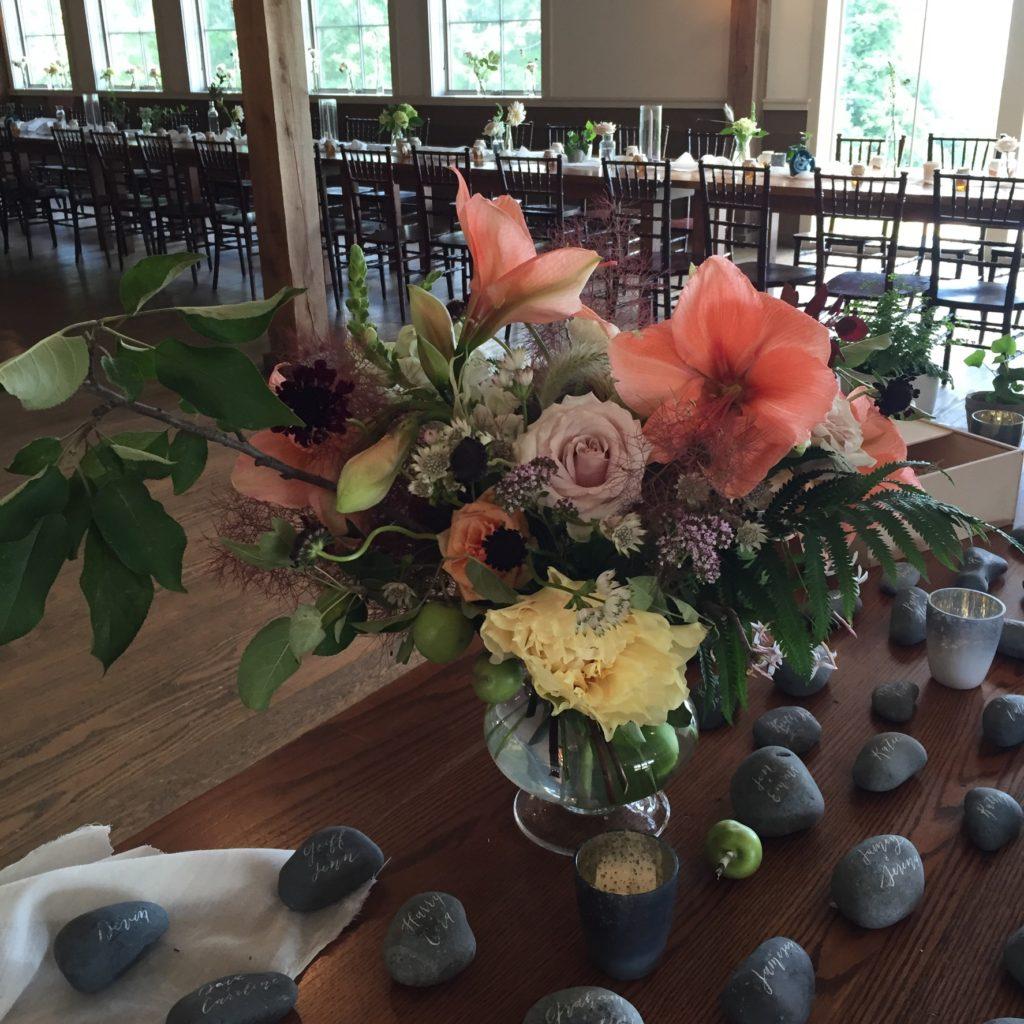 Amaryllis, modern floral design, Vermont Wedding Flowers, Floral Artistry