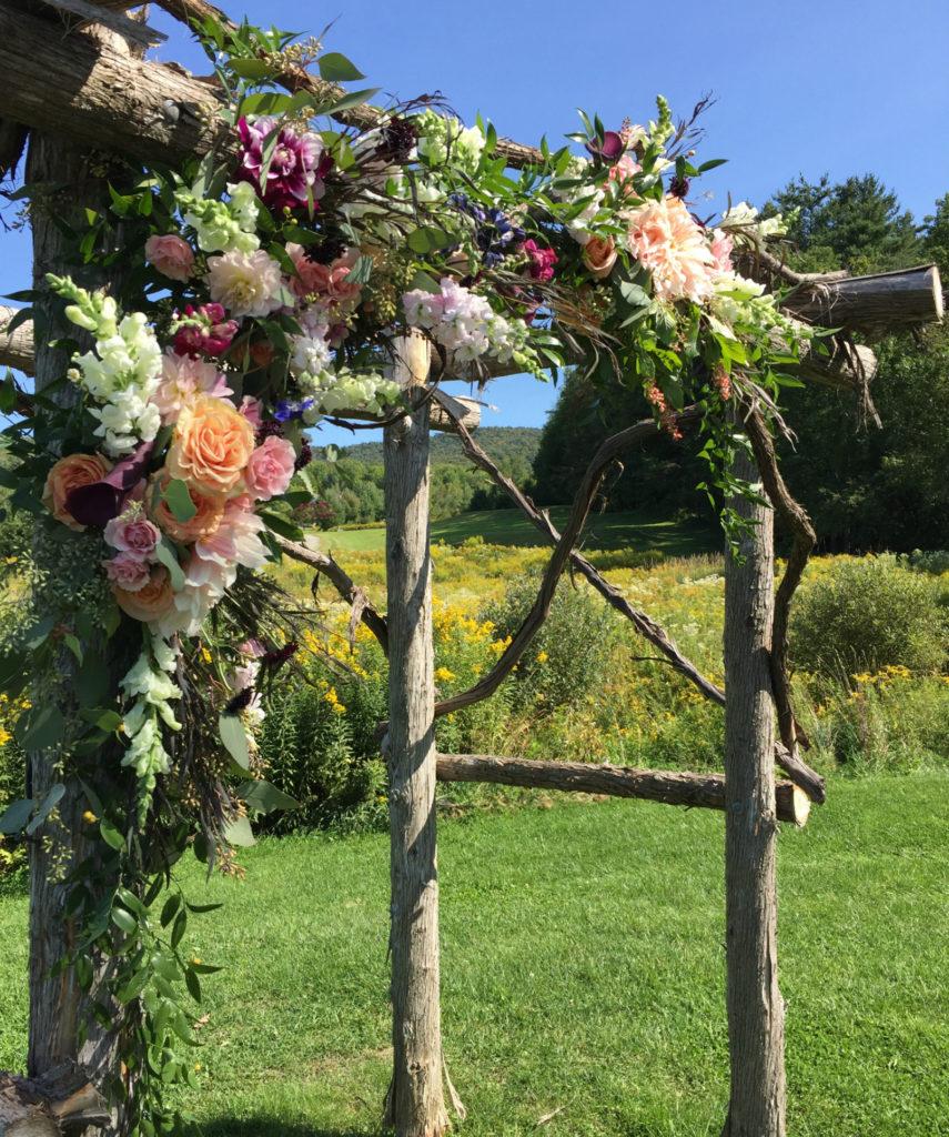 Mansfield Barn wedding flowers, Floral Artistry, Wedding Arbor
