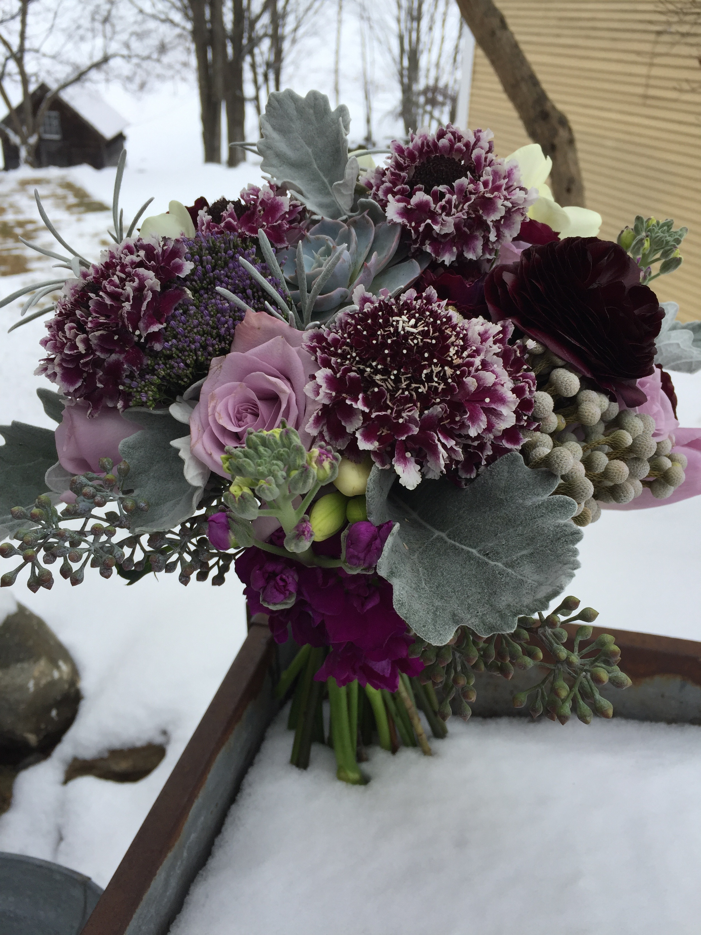 Vermont Wedding Flowers, Bridal bouquet, Weddings in Vermont, The Round Barn